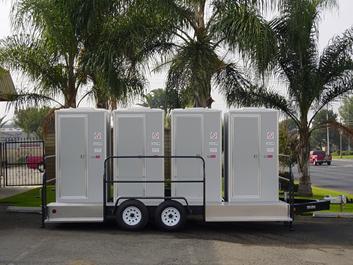Mobile restroom trailer shower trailer rentals for Portable bathroom trailers